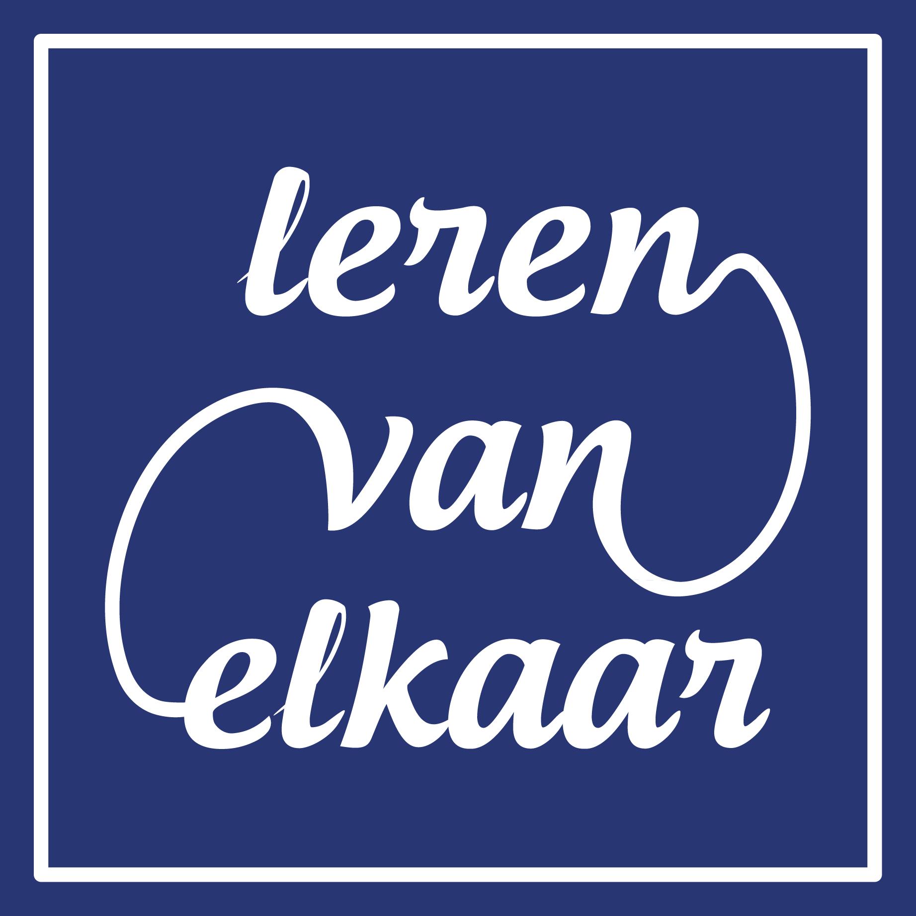 Logo Lerenvanelkaar Lerenvanelkaar.nu vierkant